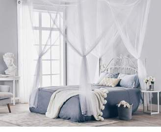 Artic 4 Corner Post Bed Canopy Mosquito Net Full Queen King Size Netting Bedding White4-Post Canopy