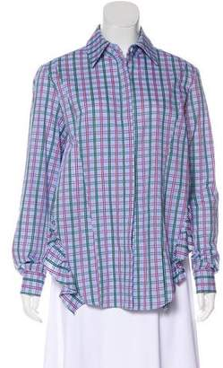 Petersyn Plaid Long Sleeve Blouse