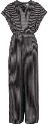 Diane von Furstenberg - Printed Silk Jumpsuit - Black $470 thestylecure.com