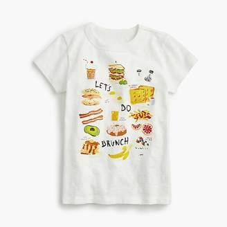"""J.Crew Girls' """"Let's do brunch"""" T-shirt"""