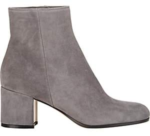 Gianvito Rossi Women's Side-Zip Ankle Boots - Gray