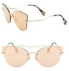 Burberry 62MM Mirrored Cat-Eye Sunglasses