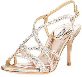 Badgley Mischka Wilde Crystal-Embellished Sandals