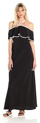 Calvin Klein Women's Off Shoulder Ruffle Maxi Dress
