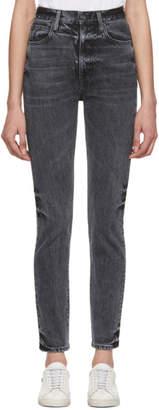 SLVRLAKE Black Beatnik High-Rise Slim-Fit Jeans