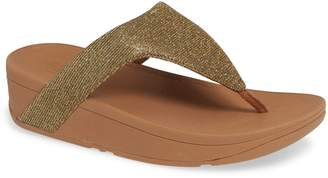 FitFlop Lottie Glitzy Wedge Flip Flop