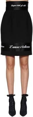 Dolce & Gabbana High Waisted Cool Wool Skirt