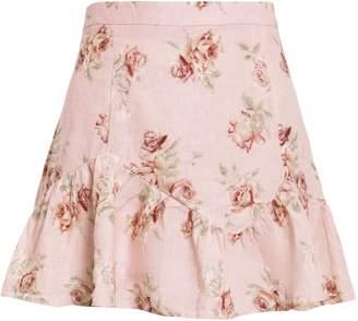 LoveShackFancy Eliza Floral Mini Skirt