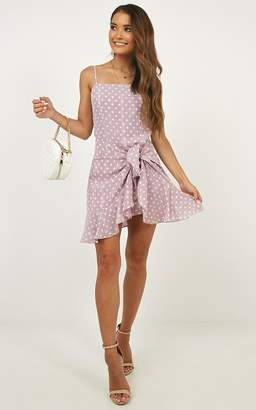 Showpo Out In The Moonlight Dress in lilac spot - 6 (XS) Dresses