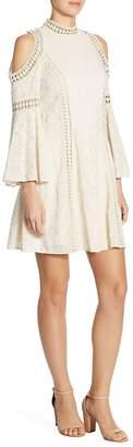 Alice + Olivia Women's Enya Embroidered Cold-Shoulder Dress