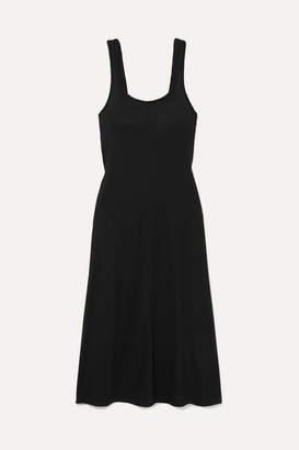 Rag & Bone Allegra Jersey Midi Dress - Black
