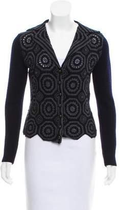 Max Mara Patterned Knit Cardigan