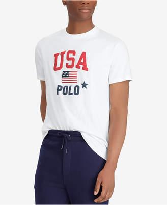 Polo Ralph Lauren Men's Flag Print Classic-Fit T-Shirt
