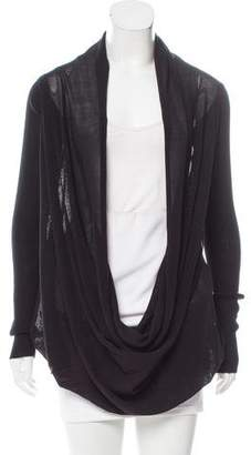 Rick Owens Draped Cowl Neck Cardigan