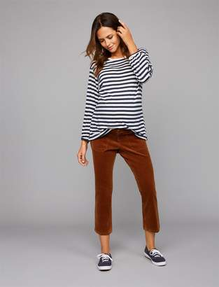 A Pea in the Pod Side Panel Crop Boot Corduroy Maternity Pants