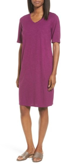 Women's Eileen Fisher Hemp & Organic Cotton Shift Dress
