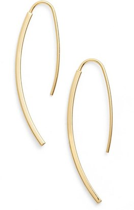 Women's Argento Vivo Curved Drop Earrings $48 thestylecure.com