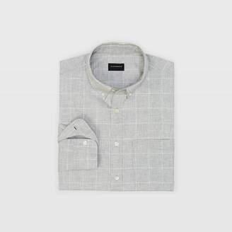 Club Monaco Slim Windowpane Flannel Shirt