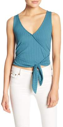 Abound Sleeveless Tie Front Top