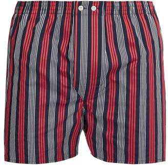 Derek Rose Royal Striped Cotton Boxer Shorts - Mens - Navy