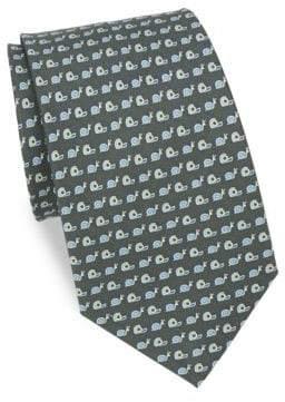 Salvatore Ferragamo Snail& Tape Silk Tie