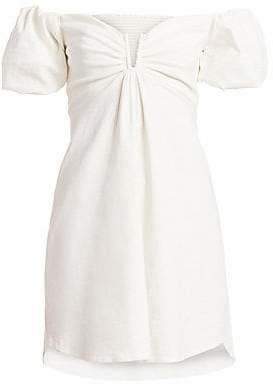 A.L.C. Women's Aniston Off-The-Shoulder Linen-Blend Dress - Size 0
