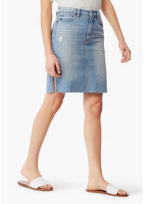 Habitual Willa Distressed Cutoff Denim Skirt