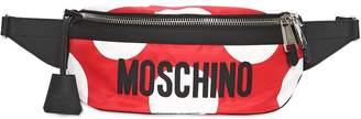 Moschino Polka Dot Printed Logo Belt Bag