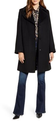 Sam Edelman Single Breasted Wool Blend Coat