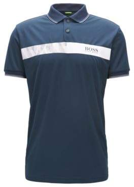 BOSS Hugo Striped Cotton Polo Shirt, Slim Fit Paule Pro XXL Dark Blue