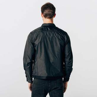 DSTLD Mens Nylon Shirt Jacket in Black