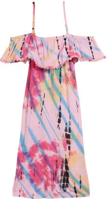 Flowers by Zoe Tie Dye Cold-Shoulder Dress, Size S-XL