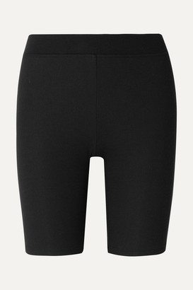 ATM Anthony Thomas Melillo Ribbed Stretch-micro Modal Shorts - Black