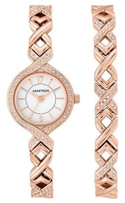 Armitron Women's Rose Gold Round Dress Watch Set