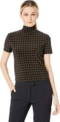 Anne Klein Women's Short Sleeve Mockneck TOP