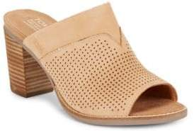 TOMS Majorcamul Perforated Leather Mules $109 thestylecure.com