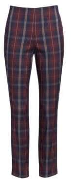 Rag & Bone Rag& Bone Rag& Bone Women's Simone Plaid Crop Skinny Pants - Burgundy Plaid - Size 4
