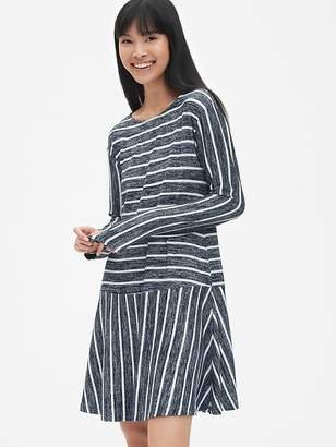 Gap Softspun Stripe Flounce T-Shirt Dress