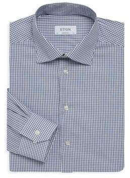 Eton Contemporary-Fit Gingham Dress Shirt
