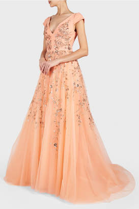 Georges Hobeika Short Sleeve Ball Gown