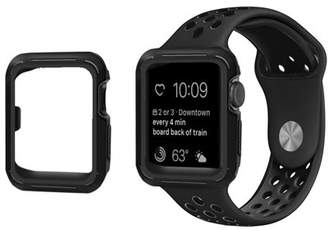 PASBUY 90C4 Silicone Replacement Sports Strap Band + Cover Case for Apple Watch Series 4 Black 44mm M/L