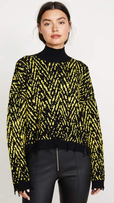 Versace Crop Knit Turtleneck