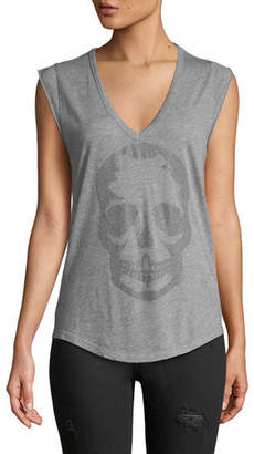Zadig & Voltaire Brooklyn Strass Cotton Skull Tee