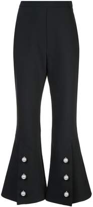 Ellery buttoned slit flared trousers