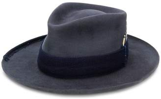 Nick Fouquet patch detail fedora hat
