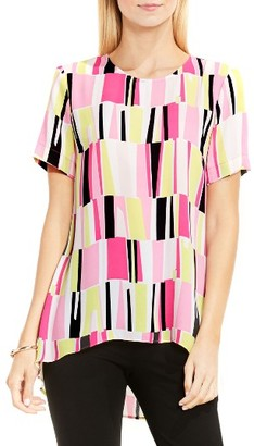 Women's Vince Camuto Graphic High/low Blouse $79 thestylecure.com