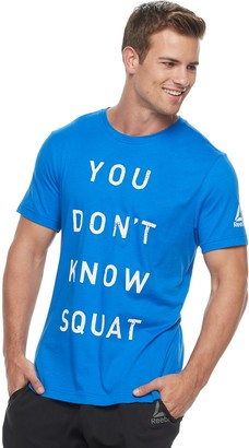 "Reebok Men's You Don't Know Squat"" Graphic Tee"