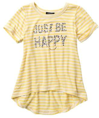 Zunie Short Sleeve Stripe Girls Are the Future Stripe Top (Little Girls & Big Girls)