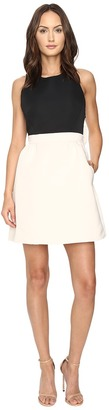Kate Spade New York - Satin Faille Bow Back Dress Women's Dress $428 thestylecure.com