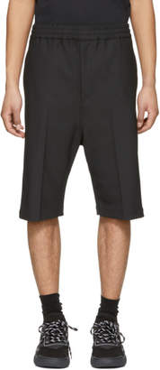 Neil Barrett Black and White Side Strike Shorts